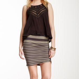 Free People | lots knots striped skirt | Sz Xs